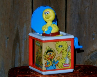 Playskool Sesame Street Big Bird Jack in the Box from 1986 works great!
