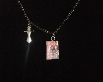 Dark Lover Book Necklace - Great Gift for Book Lovers!
