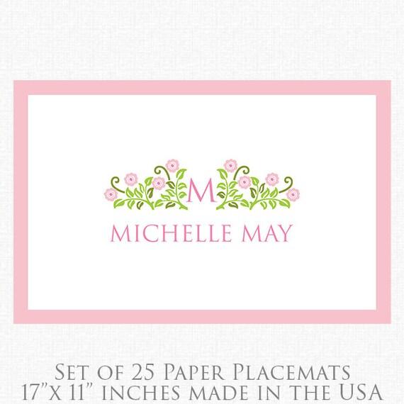 graduation paper placemats