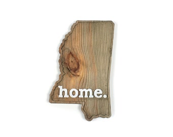 Mississippi home. Rough Cut Mill Wood Wall Hanging