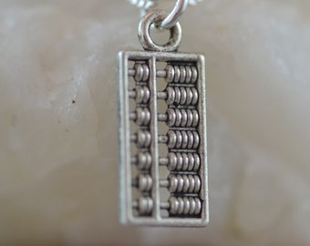 Abacus Necklace, NA001, Maths, Mathematics, Geek, accountant, banker