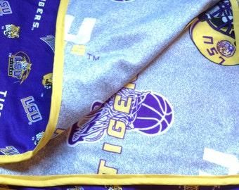 Handmade LSU Blanket