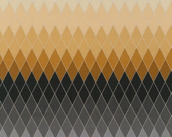 Stone Argyle Ombre with Metallic from the Harlequin Collection by Lunn Studios for Robert Kaufman