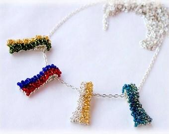 DuoFlags pendants beading TUTORIAL