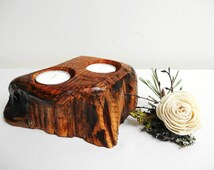 Wooden Candle Holder, Centerpiece, Candle Holder, Tea Light Candle Holder, Wood Candle Holder