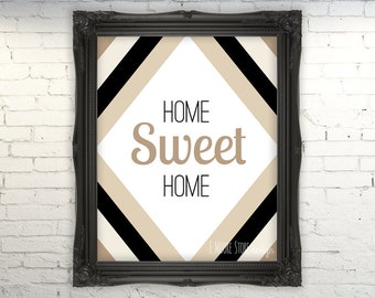 50% OFF Home Sweet Home-Neutrals- Instant Download Digital Art Print- Home Decor