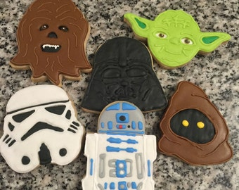 Space decorated cookies - 1 dozen