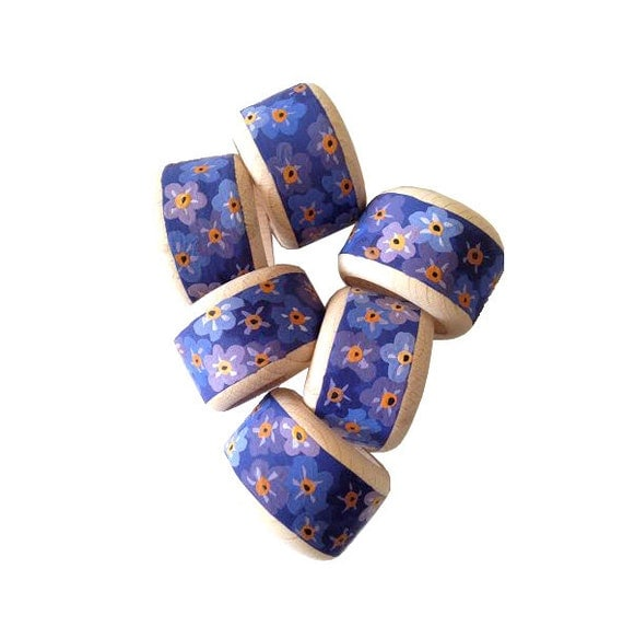 Items Similar To Purple Napkin Rings, Hand Painted