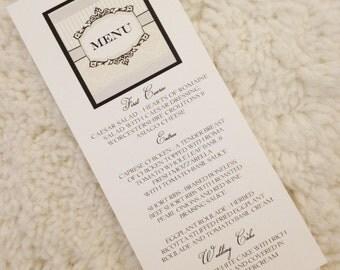 150 Elegant Menu Cards