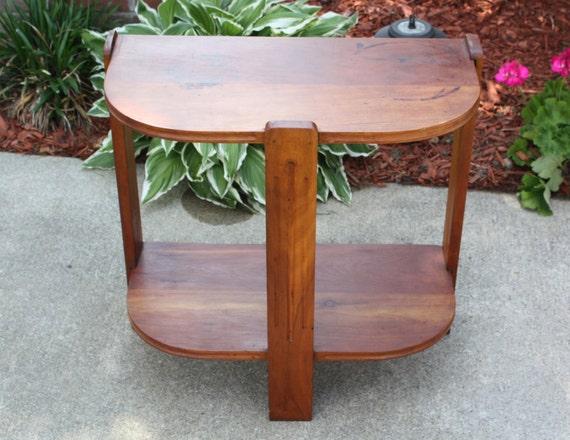 Vintage Solid Hardwood Cedar Side Table Sturdy By
