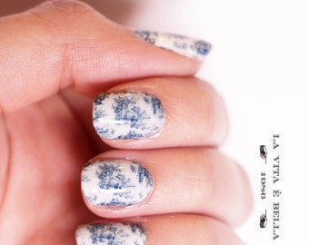 Nail Decals: Toile De Jouy Water Nail Decals