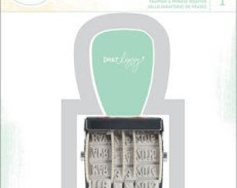 American Crafts Dear Lizzy Rotary Phrase Stamp, Scrapbooking Supplies, Rubber Stamps, Item 59177