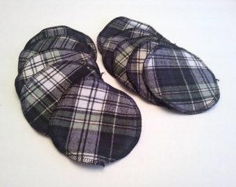 Flannel Nursing Pads / Soaker Pads for Nursing Moms / Nursing Pads Upcycled from Flannel Sheet