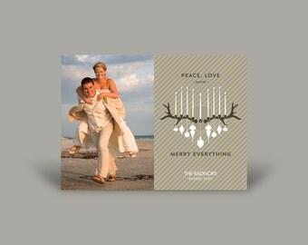 PRINTED Photo Christmas Invitation Card - Newlywed's First Christmas VI