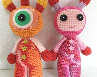 Amigurumi Toy Monsters, Handmade Amigurumi Monster.