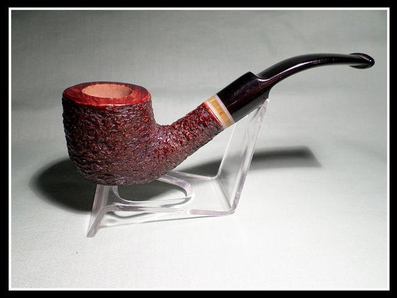 Briar Pipe New and Un-Smoked Chambersburg Pipe Works Rustic Bent Billiard