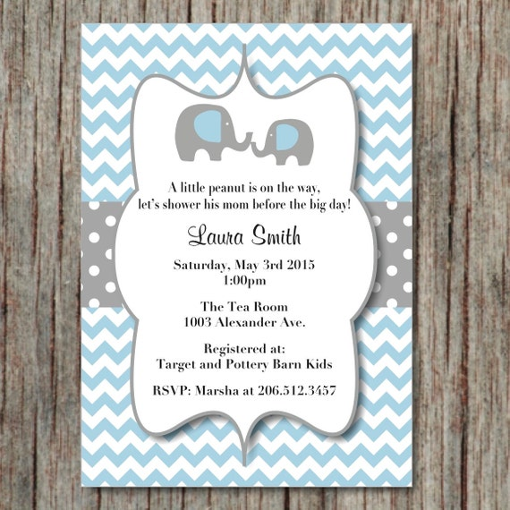 Elephant Baby Shower Invite for luxury invitations design