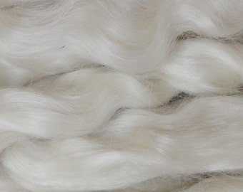 30g(approx.1oz) Mohair for re-born babies/ Teddies/ Dolls.....Platinum (Ivory white)