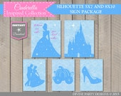INSTANT DOWNLOAD Printable Cinderella Inspired 5x7 and 8x10 Party Sign Package / Cinderella Collection / Item #2701