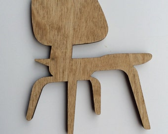 EAMES Inspired LCW Ornament - Iconic Mid Century Modern Vintage Chair Shape Wood Ornaments