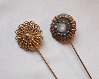 Pretty Flower Hatpins 1940's