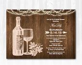 Wine Bridal Shower Invitation DIY PRINTABLE Digital File or Print (extra) Winery Bridal Shower Invitation Vineyard Bridal Shower Invitation