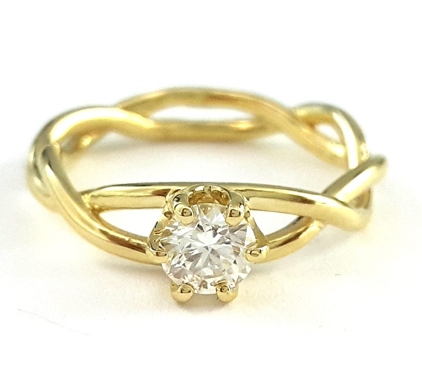 infinity engagement ring 14k yellow gold ring