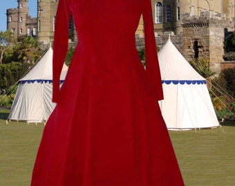 FREE SHIP Renaissance Medieval 6 Gore Kirtle Undergown SCA Garb Choice Colored Cotton lxl