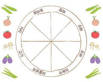 Hangul (Korean Alphabet)-Pizza Game-educational game