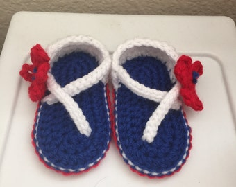 4th of July sandals -  Baby Sandals