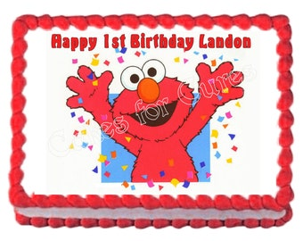 Elmo party decoration edible cake image frosting sheet cake topper