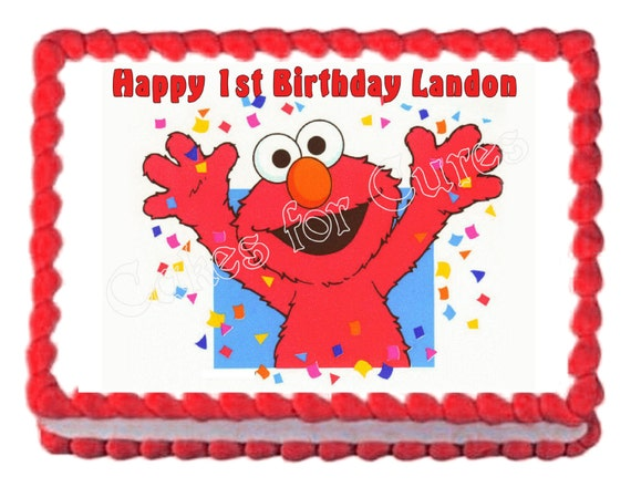 Elmo Edible Cake Images : Elmo party decoration edible cake image frosting sheet cake