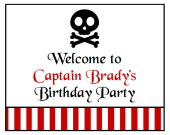 PRINTABLE Pirate Party Collection Sign