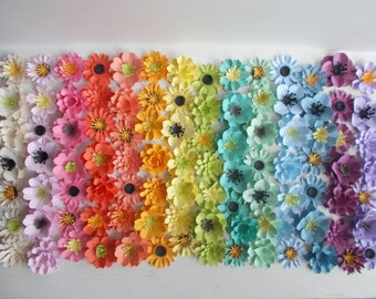 Plantable Seed Paper Flowers Rainbow Assortment of 50 - Eco Friendly Wedding Favor and Party Favor - Plant and Grow