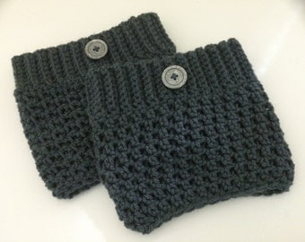 Custom Crochet Boot Cuffs (2 pair)