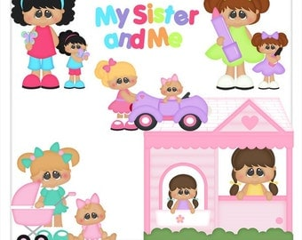 DIGITAL SCRAPBOOKING CLIPART - My Sister My Friend