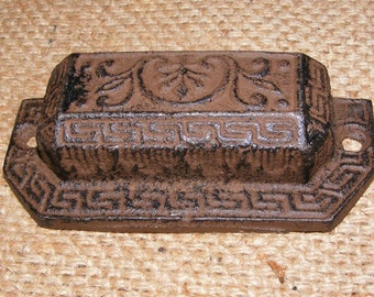 Drawer Pull Cast Iron Handle Vintage Furniture Hardware Primitive #307
