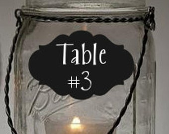 Fancy Oval Reusable Chalk Labels - Chalkboard Stickers to Organize Personalize Entertain - Simply Remarkable Classic