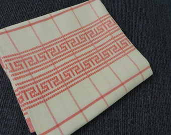 Thick Pink and White Plaid Cotton Kitchen Towel  //  Woven  //  Country Kitchen Shabby Decor  //  Very Cottage