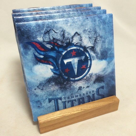 Handmade tennessee titans drink coasters set of for Handmade drink coasters