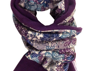 Liberty scarf mauvey purple