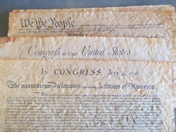 1956 documents of freedom authentic reproductions on antiqued for 4 documents of freedom 1956