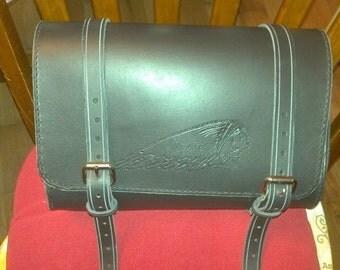 Custom Leather Fork /Handlebar Bar Bags