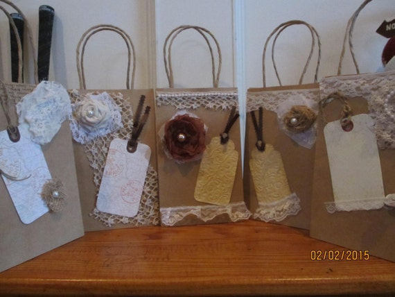 Gift Bags For Weddings For Hotel Guests: New Item Sale 5 Assorted Rustic Shabby Chic Hotel Wedding