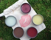 Lip Balm Samples, All Natural Handcrafted Lip Balm Tins, All natural beauty products, Handmade Beauty, Trial Size, TSA approved, Wholesale