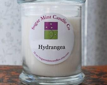 Hydrangea Soy Candle - 12 oz