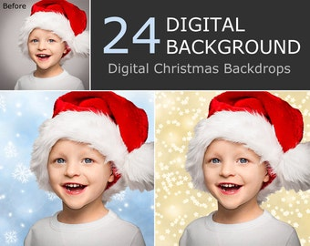 Christmas Digital Background - Christmas Digital Backdrop  -  Photoshop Background