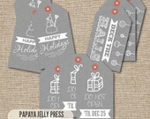 Christmas Gift Tags, Christmas tags, Gift tags, Cute gift tags, Don't Open Until, Deck the Halls
