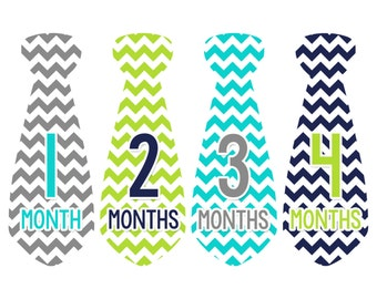 Monthly Baby Necktie Milestone Stickers Baby Boy Precut Tie Baby Shower Gift Baby Stickers Monthly Baby Stickers Baby Month Sticker 734