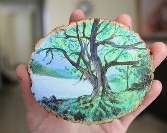 Hand Painted Tree Magnets - 2 Pack